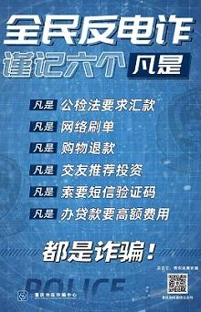 重庆防诈骗广告