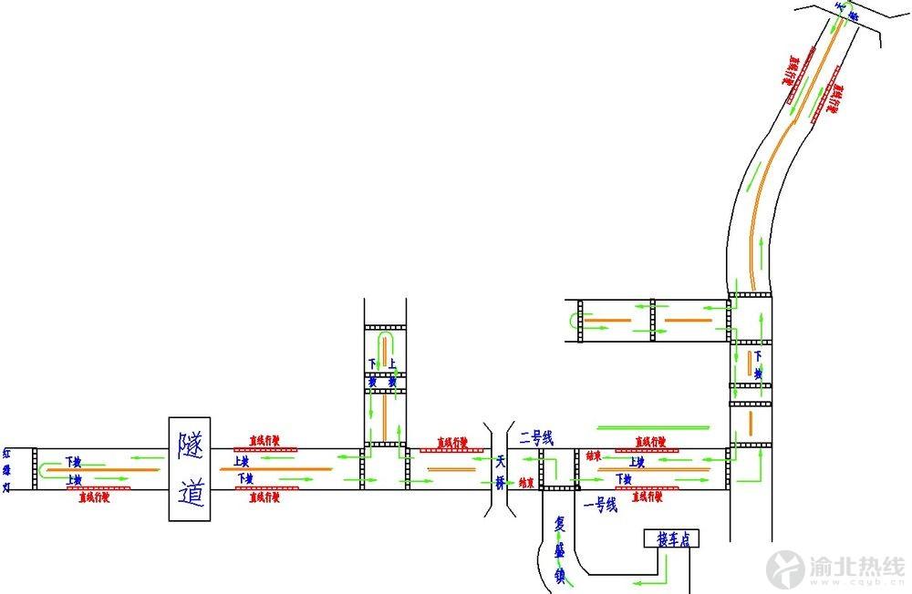 重庆复盛电子路考,1,2号线路图